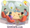 Vector Clipart illustration  of a Business / think tank