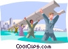 business / co-operation, interdependence Vector Clipart picture
