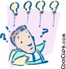 Vector Clipart picture  of a bright ideas