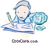 Vector Clip Art image  of a business / planning
