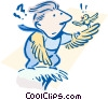 Vector Clip Art image  of a research and development