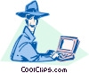 Vector Clip Art graphic  of a business / technology