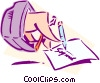 Vector Clip Art graphic  of a technology / Email