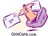 Vector Clipart graphic  of a business / technology / Email