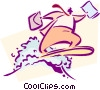 Vector Clip Art graphic  of a business / surfing the WEB