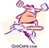 Vector Clipart picture  of a business / surfing the WEB