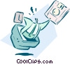 Vector Clipart graphic  of a business / technology / info