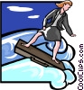 Vector Clipart graphic  of a surfing the WEB