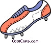 Vector Clipart graphic  of a soccer shoe