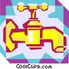 Vector Clip Art graphic  of a faucet