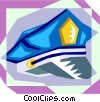 police officer hat Vector Clipart illustration