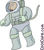 Vector Clip Art picture  of an astronaut