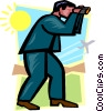 business man looking ahead Vector Clipart picture