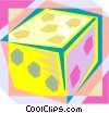 Vector Clipart picture  of a die