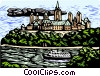 Vector Clip Art image  of a Parliament buildings Canada