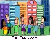business / working together Vector Clipart illustration