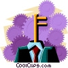 Vector Clip Art graphic  of a business / turn-key system