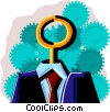 business / turn-key system Vector Clipart image