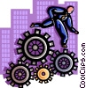 Vector Clipart picture  of a business / operations