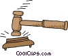 judge's hammer Vector Clipart picture