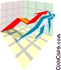 trends and forecasts Vector Clipart picture