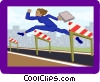 Vector Clipart illustration  of a business hurdler
