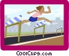 business hurdler Vector Clipart image