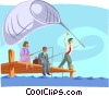 Fishing for Prospects Vector Clipart image