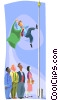 Vector Clipart picture  of a Pole runner