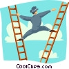 Climbing the corporate ladder Vector Clipart image