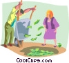 Vector Clipart graphic  of a Money Pit