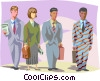Vector Clipart graphic  of a Standing out in the crowd