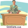 Business Guru Vector Clipart illustration