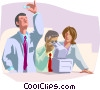Researchers working together Vector Clipart illustration
