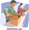 Vector Clip Art image  of an Assembly line