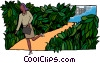 Vector Clip Art graphic  of a garden path