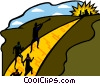 Vector Clipart graphic  of a metaphor golden street to the