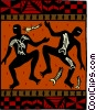 African dancers Vector Clip Art graphic