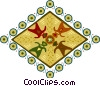 symbol depicting mixed races encircling the globe Vector Clipart image