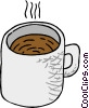 Vector Clipart illustration  of a cup of coffee