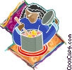 Vector Clip Art picture  of a cooking up ideas
