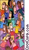 Vector Clip Art graphic  of a business gathering