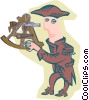 Vector Clip Art image  of a early explorer