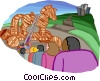 Trojan horse, metaphor Vector Clipart picture