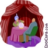 crystal ball with fortune teller Vector Clipart image