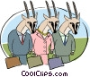 Vector Clipart picture  of a business animals