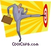 Vector Clipart image  of a hitting the target