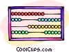 Vector Clip Art image  of an abacus