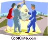 Vector Clip Art graphic  of a Sharing navigational skills