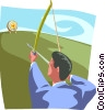 Vector Clip Art graphic  of a Target shooting